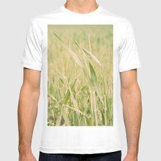 Grass White Mens Fitted Tee MEDIUM