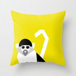 Geometric Monkey Throw Pillow