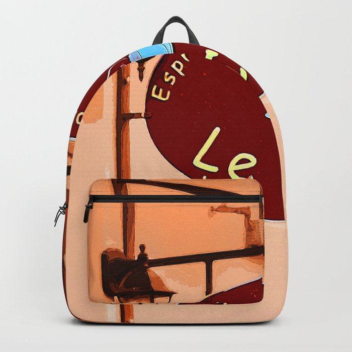 Le Cafe, France Backpack