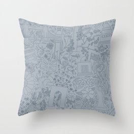 DC NYC London - Powder Blue Throw Pillow