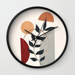 Maroon Design 04 Wall Clock