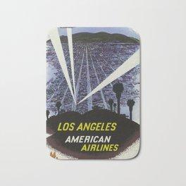 Los Angeles, American Air Lines - Vintage Poster Bath Mat