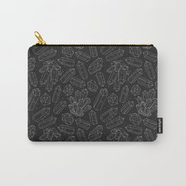 Black Crystals Carry-All Pouch