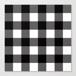 Black & White Buffalo Plaid Canvas Print