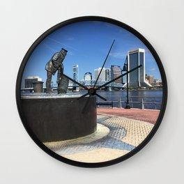 Lone Sailor Statue, Jacksonville, Florida. Wall Clock