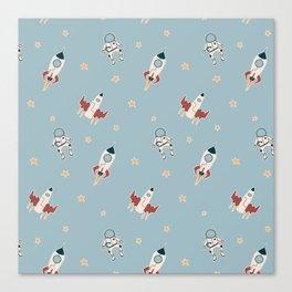 Space cartoon pattern Canvas Print