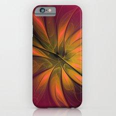 fractal elegance - red and orange iPhone 6s Slim Case