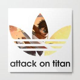 Attack on Titan Adidaz Metal Print