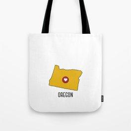 Oregon State Heart Tote Bag