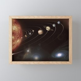 the solar system Framed Mini Art Print