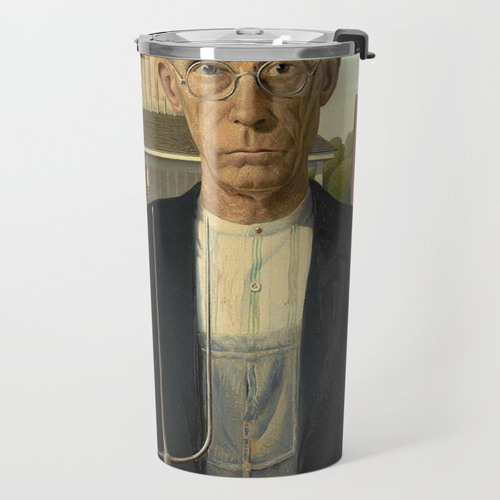AMERICAN GOTHIC - GRANT WOOD Travel Mug