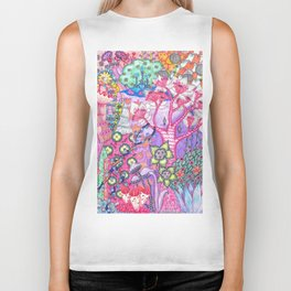 Trippy Forest Full Version Biker Tank