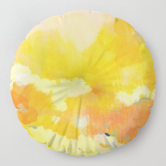 abstract spring sun Floor Pillow