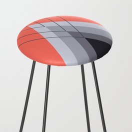Iglu Living Coral Counter Stool