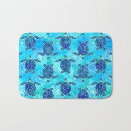 Watercolor Sea Turtles Mandalas Pattern Bath Mat