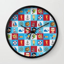Ahoy There! Wall Clock
