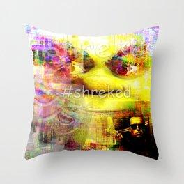 #shreked Throw Pillow