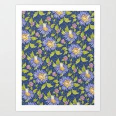 Watercolor pattern Art Print