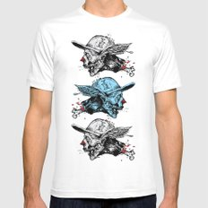 FlyingZombie Mens Fitted Tee White MEDIUM