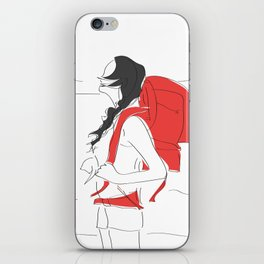 Backpacking Girl iPhone Skin