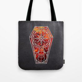 Sacred Geometry Dreamstate - Fire Nebula Tote Bag