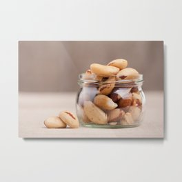 Brazil nuts from Bertholletia excelsa Metal Print
