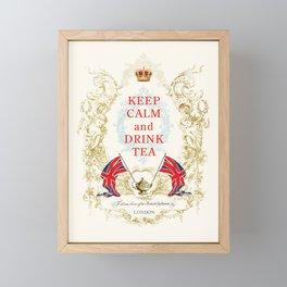 Keep Calm and Drink Tea Framed Mini Art Print