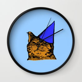 Party Cat (Blue Version) Wall Clock