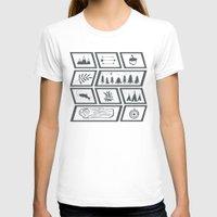 camping T-shirts featuring Camping by Corina Rivera Designs