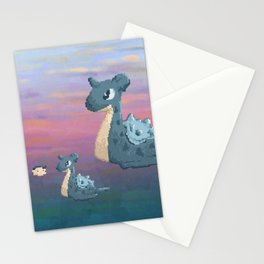 Swimming with Lapras. Stationery Cards