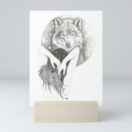 WolfMoon Mini Art Print