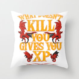 Roleplay DND RPG Gamer Dungeon Master Gift Throw Pillow