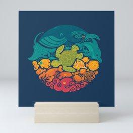 Aquatic Rainbow Mini Art Print