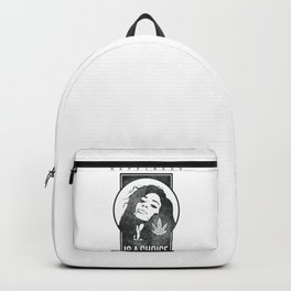Hemp girl, for cannabis lovers Backpack