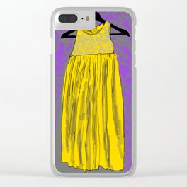 Yellow Doll Dress Clear iPhone Case