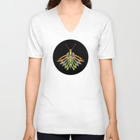 firefly V-neck T-shirts featuring Firefly by Phil Perkins