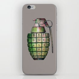Your Keyboard is your weapon Grenade iPhone Skin