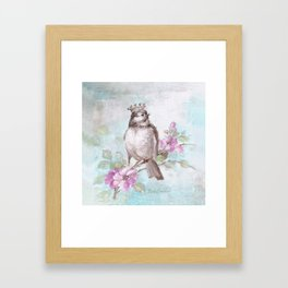 French Crown and Feather II Framed Art Print