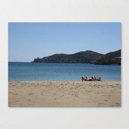 Beach Goers Paradise Canvas Print