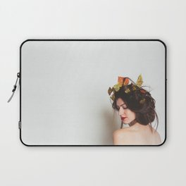 Autumn Queen, minimalistic girl portrait  Laptop Sleeve