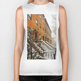 Brooklyn Wintertime is coming Brownstone Biker Tank