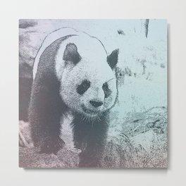 Sketchy Panda Metal Print