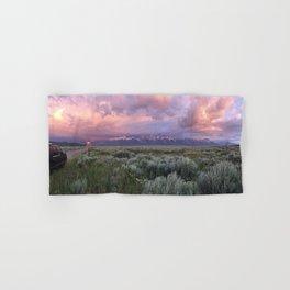 Teton Range Sunrise Hand & Bath Towel