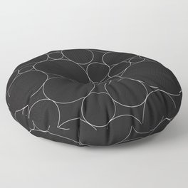 Circular Collage - Black & White I Floor Pillow