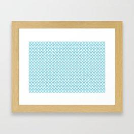 Pastel Blue Heart Pattern Framed Art Print