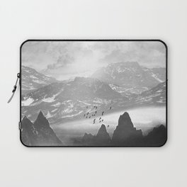 Black and White - Winter. Melody... Laptop Sleeve