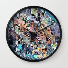 Abstract Digital Doodle 2 Wall Clock