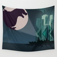 godzilla Wall Tapestries featuring Payback Time  2014 godzilla  by milanova
