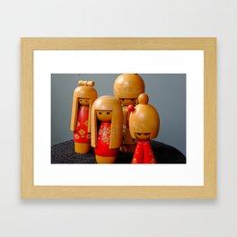 Jpanese Dolls Framed Art Print