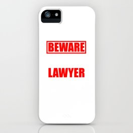 Law Student School Beware My Aunt is a Lawyer Gift iPhone Case